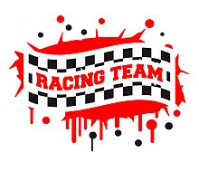 Racing Team Flag Graffiti by Style-O-Mat