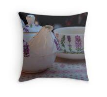 Cosy Tea Throw Pillow