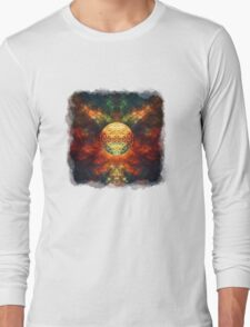 Centered Reality (Flower Of Life) Long Sleeve T-Shirt