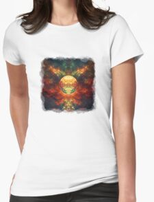Centered Reality (Flower Of Life) Womens Fitted T-Shirt
