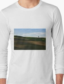 Lone tree over hills Long Sleeve T-Shirt