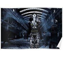DWR Futuristic Cyborg and Retro Robots Poster