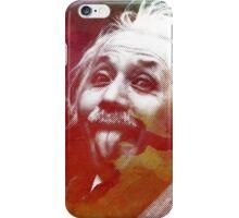 Albert Einstein dot watercolour portrait iPhone Case/Skin