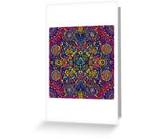 Psychedelic Indian Trance Greeting Card