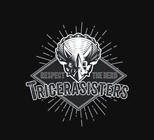 Tricerasisters: Respect the Herd! Men's Baseball ¾ T-Shirt