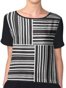 Stripes Elixir: Black and White Hollywood Inspired Chiffon Top