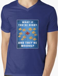 You're right, and they're wrong? Mens V-Neck T-Shirt