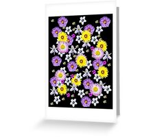 Wildflowers on black Greeting Card