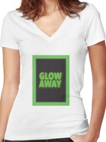 Glow Away Women's Fitted V-Neck T-Shirt