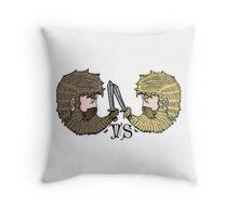 attack on beards Throw Pillow