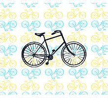 Bicycles (Blue and Yellow) Photographic Print