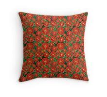 Tomato and Chives Throw Pillow