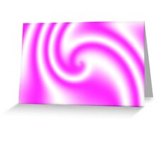 Raspberry Ribbon Candy Fractal Greeting Card
