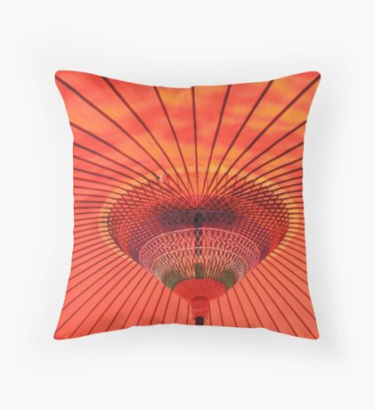 Japanese Parasol Throw Pillow