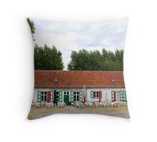 In de Peerdevisscher - Oostduinkerke - Belgium Throw Pillow