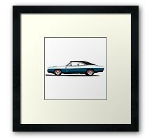 Dodge Charger R/T 426 Hemi (blue) Framed Print