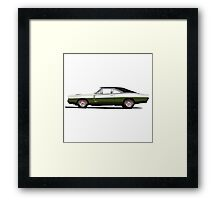 Dodge Charger R/T 426 Hemi (dark green) Framed Print
