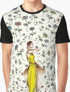 Paris Autumn Flower Girl  Graphic T-Shirt