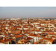 Impressions of Venice - Red Roofs and Cruise Ships Photographic Print