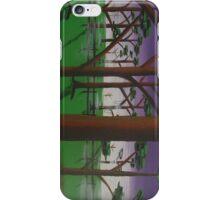 trees/mist/purple iPhone Case/Skin