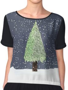 Winter Tree Chiffon Top