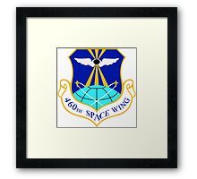 460th Space Wing Crest Framed Print
