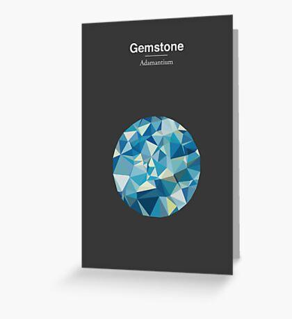 Gemstone - Adamantium Greeting Card