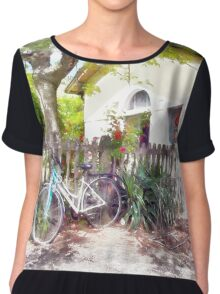 Fognano: railway station, bicycle Chiffon Top