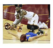 Lebron Robs Steph 3 Photographic Print