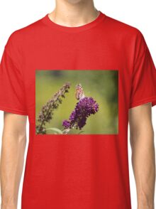 Butterfly With Flowers Classic T-Shirt