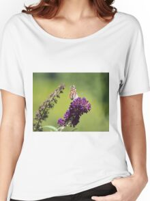 Butterfly With Flowers Women's Relaxed Fit T-Shirt