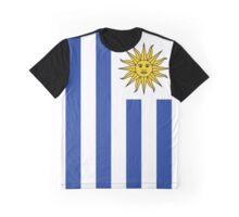 Uruguay Flag Banner Graphic T-Shirt