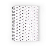 Poodle Pattern White Spiral Notebook