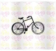 Bicycles (Pink) Poster