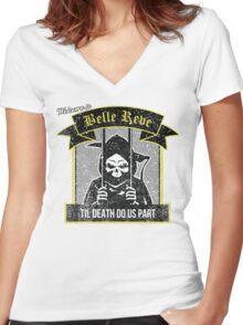 Belle Reve Ispired Logo Women's Fitted V-Neck T-Shirt