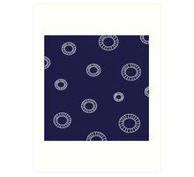 Blue material pattern artistic - blue edition ( folk ) Slavic Edition Art Print