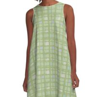 Airline (green) A-Line Dress