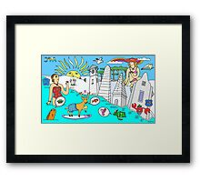 Funny Map of 30a in color Framed Print