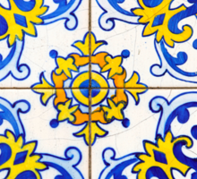 Vintage Azulejos Tiles Pattern Sticker