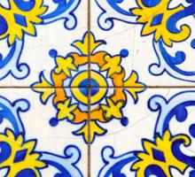 Vintage Azulejos Tiles Pattern Sticker