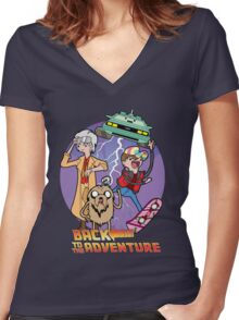 Back to the Adventure Women's Fitted V-Neck T-Shirt