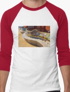 Gaudi's Park Guell Sinuous Curves - Impressions Of Barcelona Men's Baseball ¾ T-Shirt