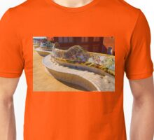 Gaudi's Park Guell Sinuous Curves - Impressions Of Barcelona Unisex T-Shirt