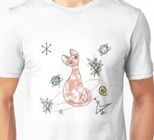 Atomic Cat: Mid Century Modern, by Alma Lee Unisex T-Shirt