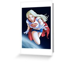 Super girl DC Greeting Card