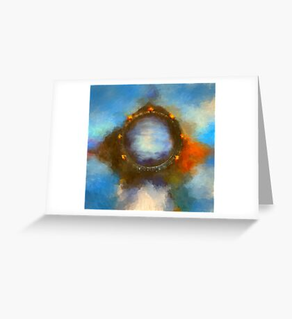 ancient worlds science fiction fantasy Greeting Card