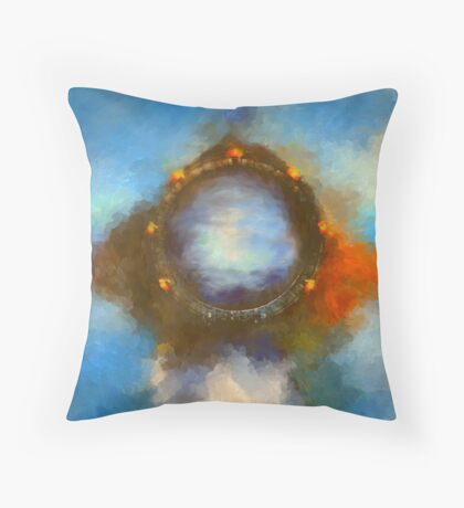ancient worlds science fiction fantasy Throw Pillow
