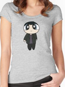 9th Doctor Powerpuff Style! Women's Fitted Scoop T-Shirt