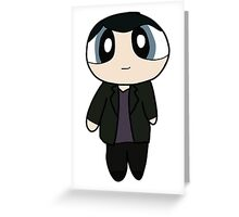 9th Doctor Powerpuff Style! Greeting Card
