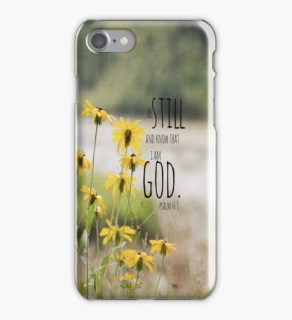Know I Am God Psalm 46 iPhone Case/Skin